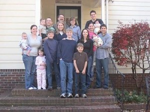 Kathy & Tom with their 7 children and their families