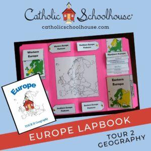 Catholic Schoolhouse Geography Lapbook