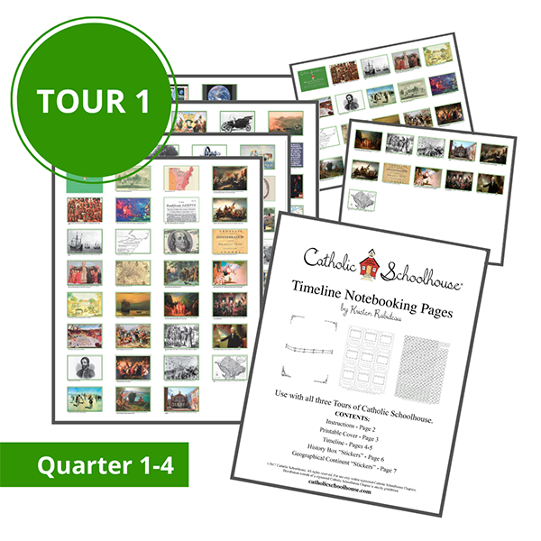 New Printable Resources Available for Catholic Schoolhouse Tour 1