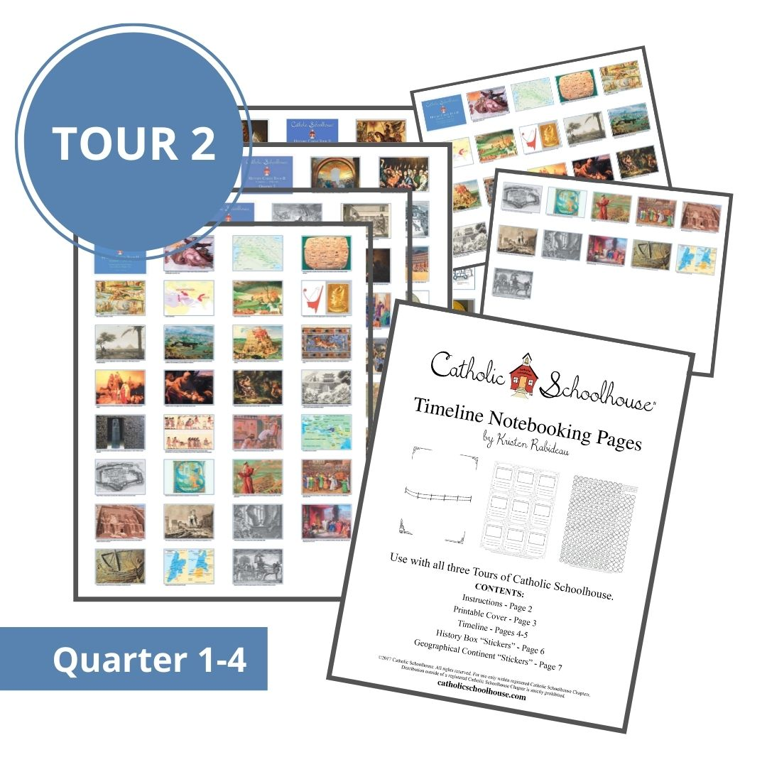 New History Timeline Printable Resources Available for Catholic Schoolhouse Tour 2