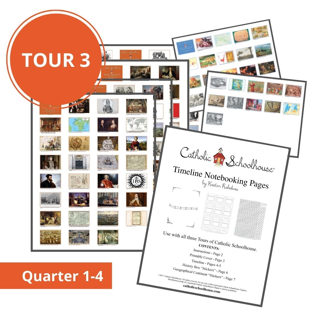 New History Timeline Printable Resources Available for Catholic Schoolhouse Tour 3