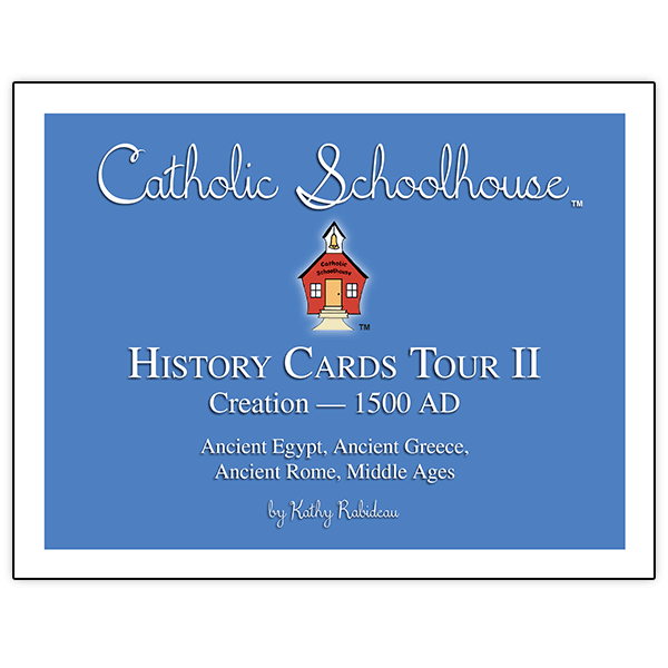 Catholic School House Tour 2 History Cards Set