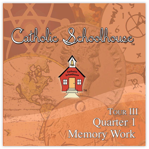 Catholic School House Tour 3 Memory Work CD set