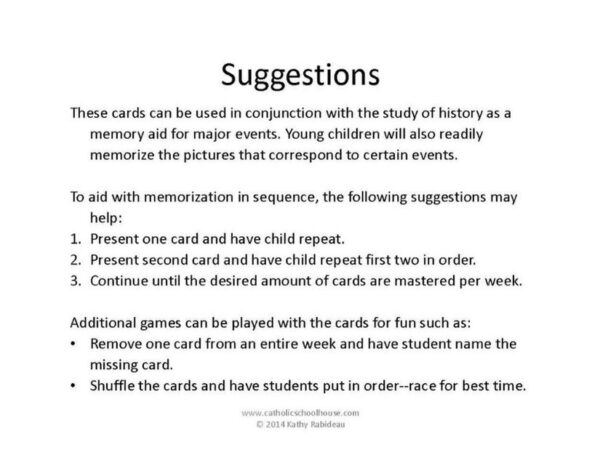 CSH History Cards Suggestions for Use