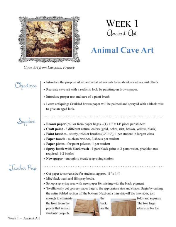 Catholic Schoolhouse Tour 2 Q1 Art - Animal Cave Art