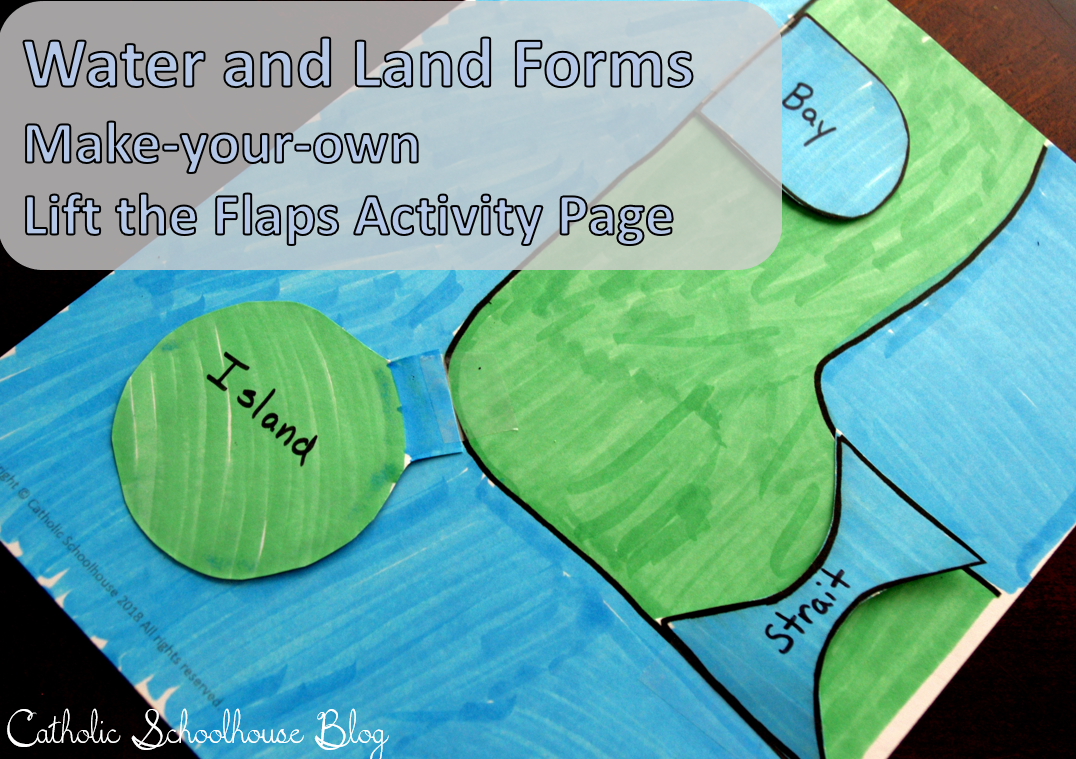 Water and Land Forms Lift the Flap activity
