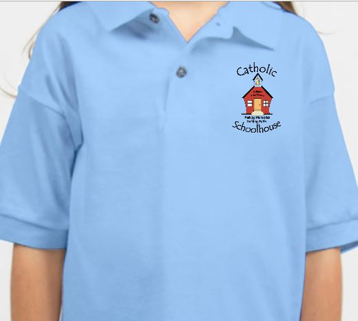 Catholic Schoolhouse Logo Items through Lands' End- special discounts!