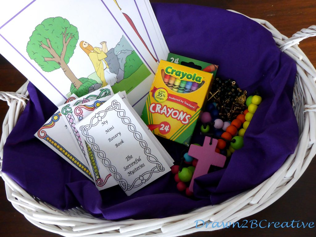 Rosary Time Basket