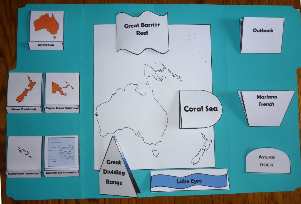 completed oceania lapbook