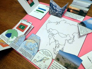 finished asia lapbook unfolded