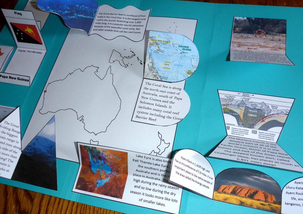 open flaps oceania lapbook