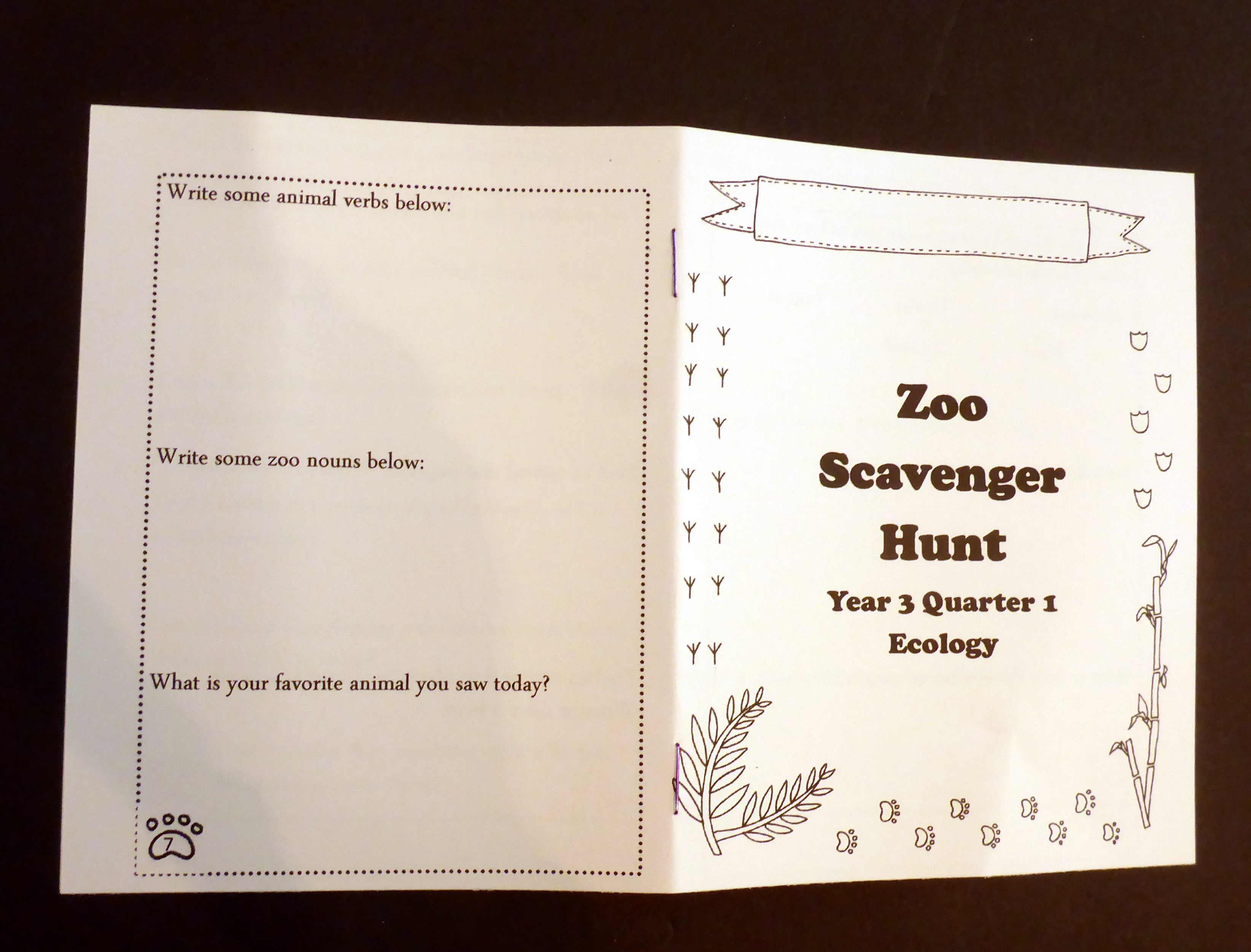picture regarding Zoo Scavenger Hunt Printable called Zoo Scavenger Hunt Printable (for an Ecology marketplace vacation