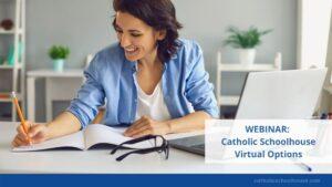woman at laptop webinar
