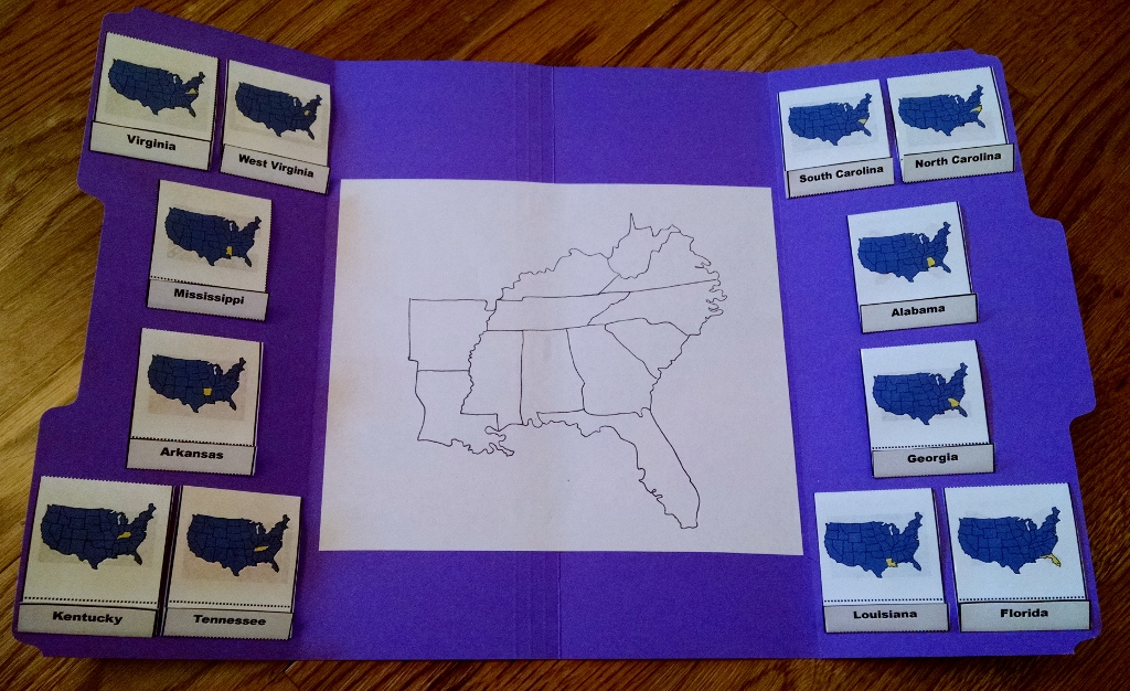 Southeastern States Lapbook Part 1